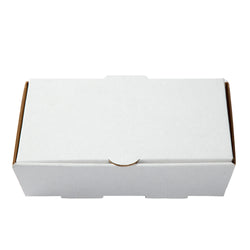 Small White Corrugated Take Out Box