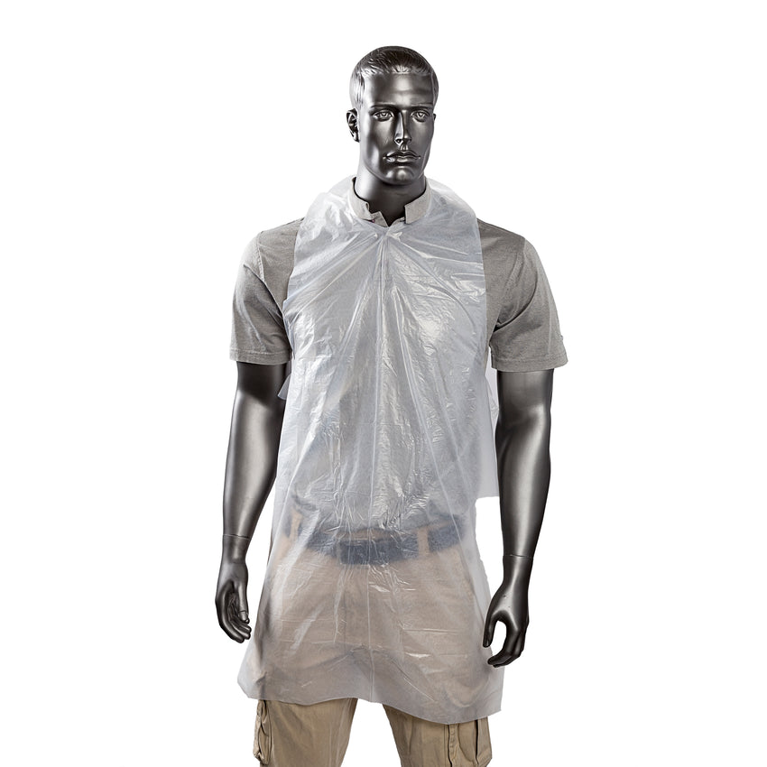 "24"" x 42"" Lightweight Poly Apron, Apron On Mannequin"