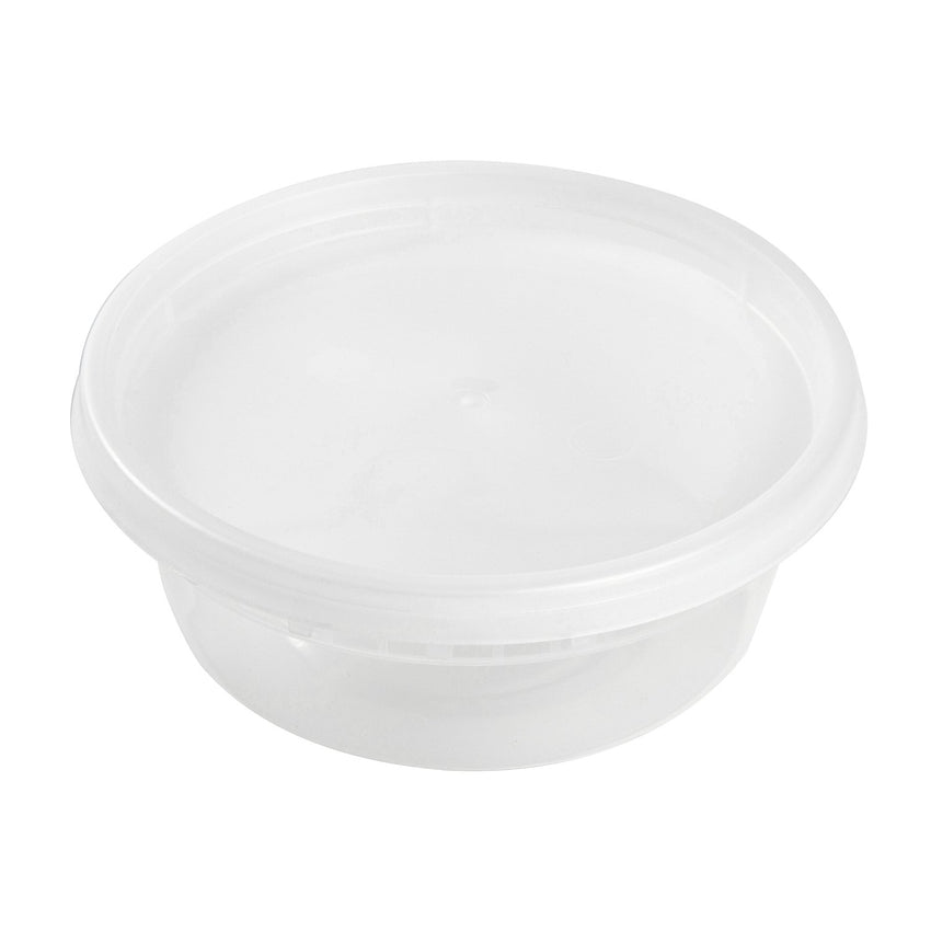 8 Oz Clear Polypropylene Deli Container With Lid Combo