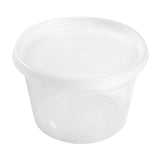 16 Oz Clear Polypropylene Deli Container With Lid Combo