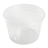 16 Oz Clear Polypropylene Deli Container With Lid Combo, View Of Individual Container