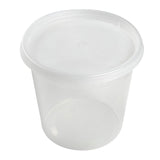 24 Oz Clear Polypropylene Deli Container With Lid Combo