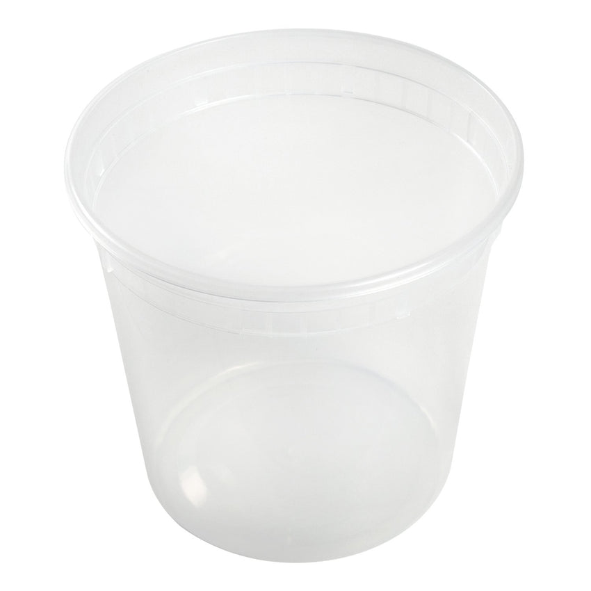 24 Oz Clear Polypropylene Deli Container With Lid Combo, View Of Individual Container