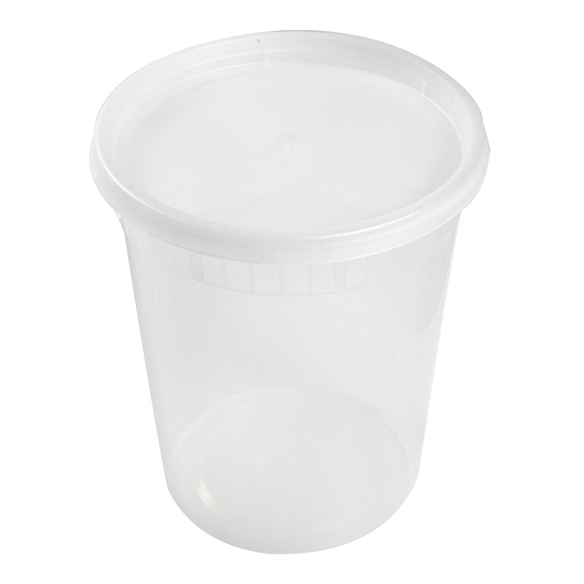 32 Oz Clear Polypropylene Deli Container With Lid Combo