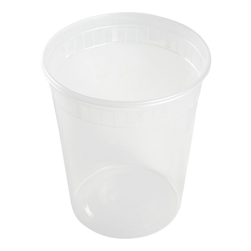 32 Oz Clear Polypropylene Deli Container With Lid Combo, View of Individual Container