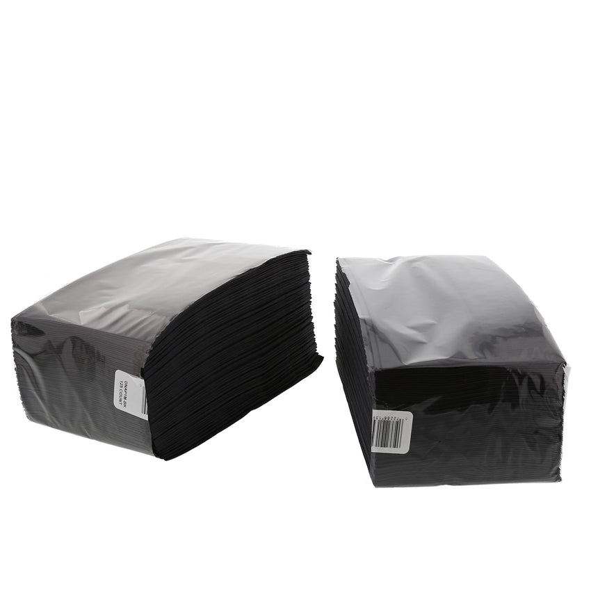 "Black Dinner Napkin, 2-Ply, 15"" x 17"", Two Packages Side By Side"