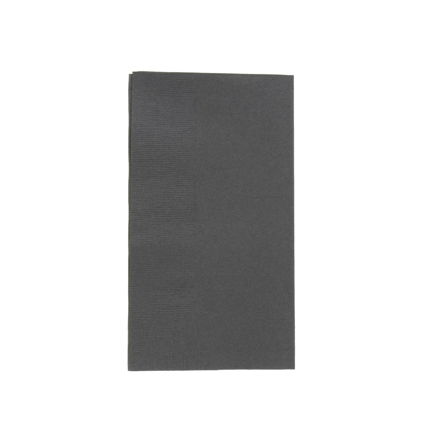 "Black Dinner Napkin, 2-Ply, 15"" x 17"""