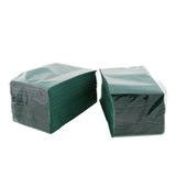 "Dark Green Dinner Napkin, 2-Ply, 15"" x 17"", Two Packages Side By Side"