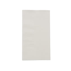 White Dinner Napkin, 2-Ply, 15