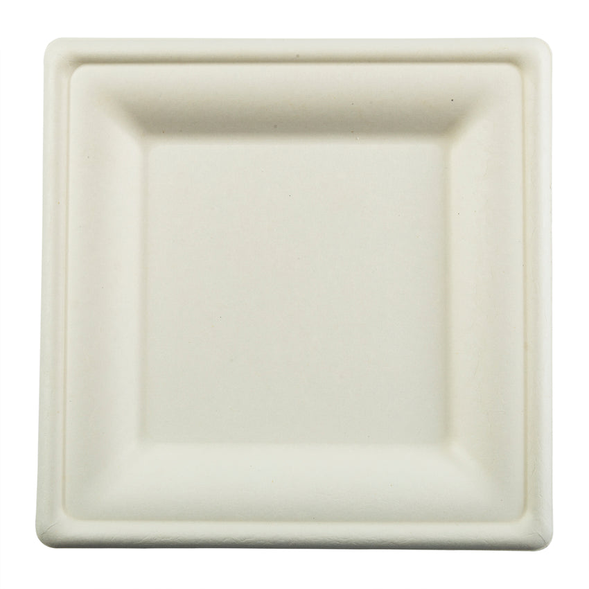"8"" Square Plates, Overhead View"