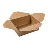 "Kraft Folded Takeout Box, 6"" x 4-3/4"" x 2-1/2"", Open Box"