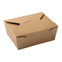 Kraft Folded Takeout Box, 6