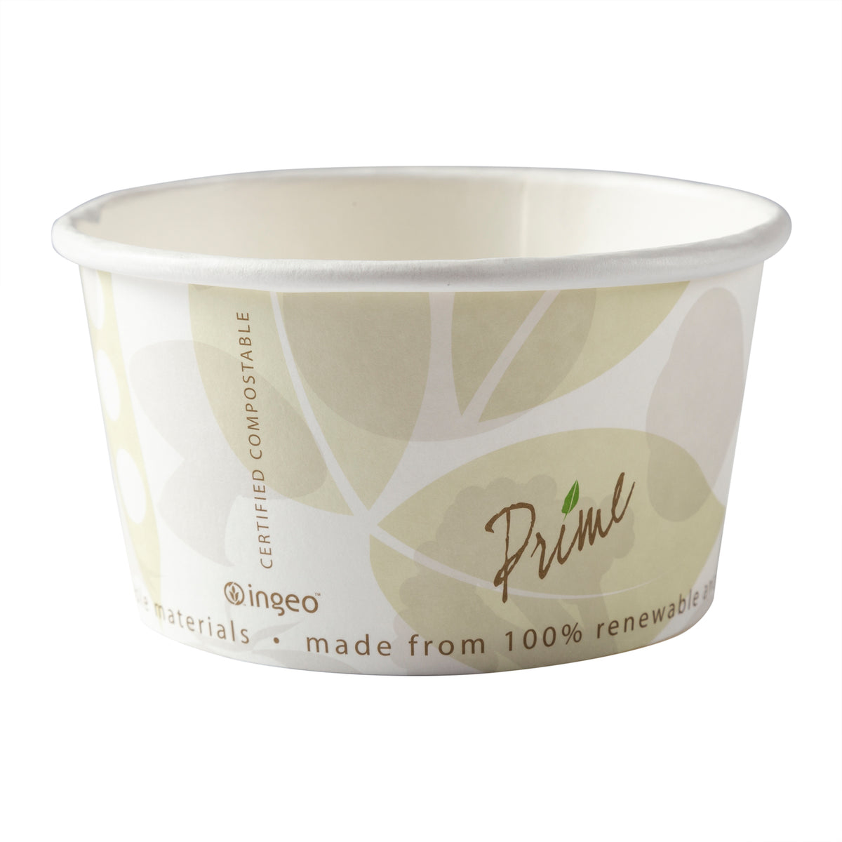 FOOD CONTAINER FC-12 HOT/COLD 12 OZ PLA COMPOSTABLE 500/CS