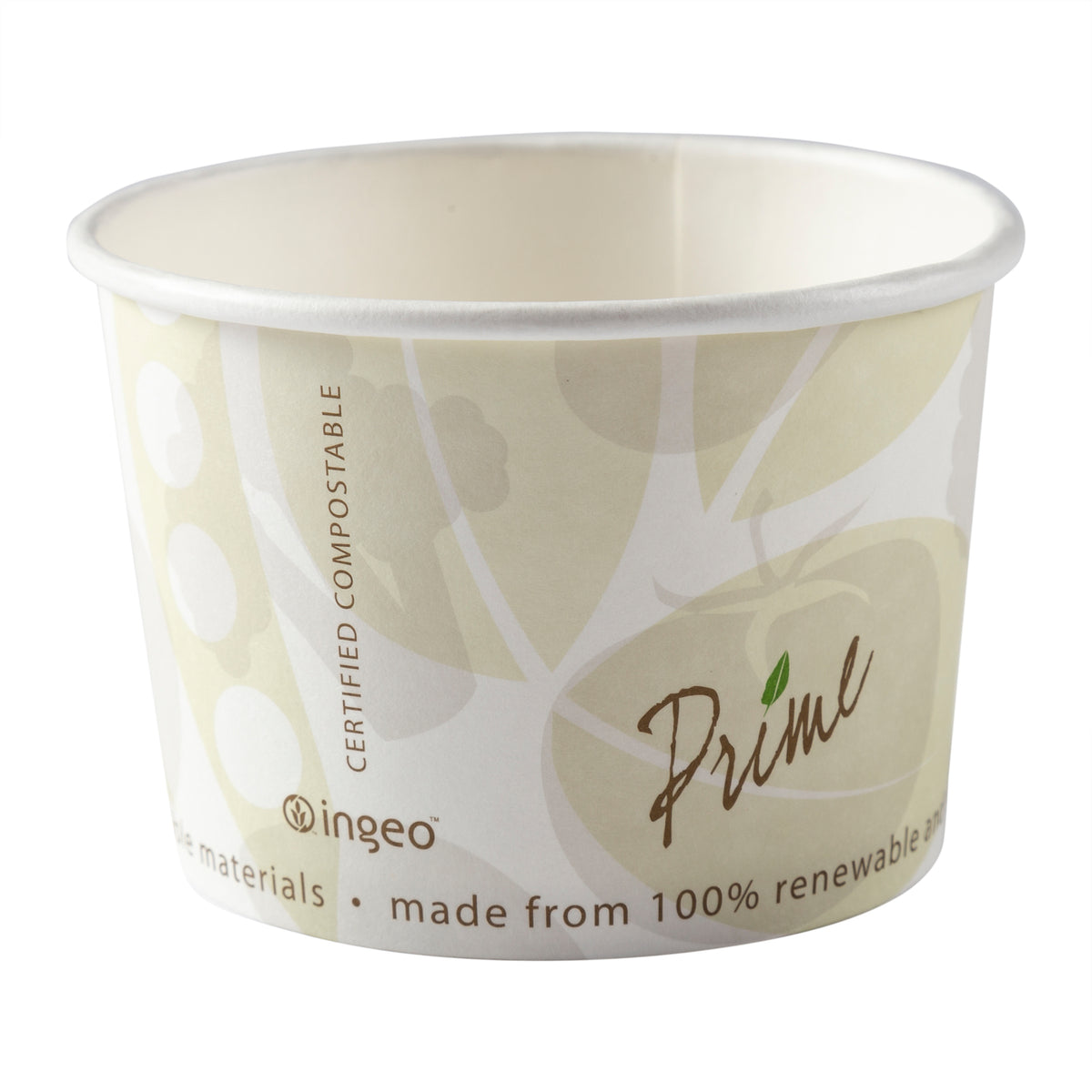 FOOD CONTAINER FC-8 HOT/COLD 8 OZ PLA COMPOSTABLE 1000/CS