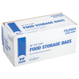 "Low Density Food Storage Bag, 10"" x 18"" x 24"", Closed Case"