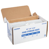 "Low Density Food Storage Bag, 10"" x 18"" x 24"", Open Case"
