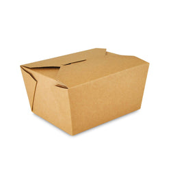 Kraft Folded Takeout Box, 4-3/8