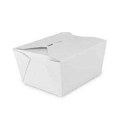 White Folded Takeout Box, 4-3/8