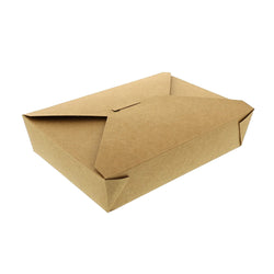 #2 KRAFT FOLDED TAKEOUT BOX 7-3/4