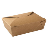 "Kraft Folded Takeout Box, 7-3/4"" x 5-1/2"" x 2-1/2"""