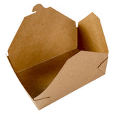 "Kraft Folded Takeout Box, 7-3/4"" x 5-1/2"" x 2-1/2"", Open Box"