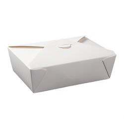 White Folded Takeout Box, 7-3/4