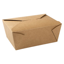 Kraft Folded Takeout Box, 7-3/4