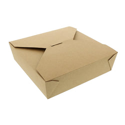 Kraft Folded Takeout Box, 8-1/2