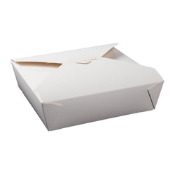 White Folded Takeout Box, 8-1/2