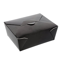 Black Folded Takeout Box, 6