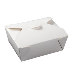 White Folded Takeout Box, 6