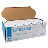 White Guest Checks 1-Part Booked, 15 lines, Open Case