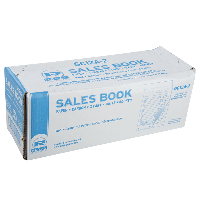Carbon 2 Part Booked Package of 10 Books Royal White Sales Book Paper