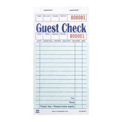 Green Guest Check 1-Part Booked, 16 lines