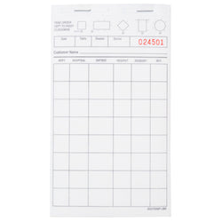 White Server Pad, Carbonless, 2-Part Booked, 4.2