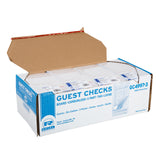 Tan Guest Check 3-Part Loose, Carbonless, 15 lines, Open Case
