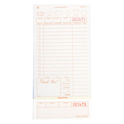 Tan Guest Check 3-Part Loose, Carbonless, 15 lines
