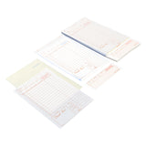 Tan Guest Check 3-Part Loose, Carbonless, 15 lines, Detached Pages