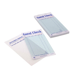 Green Guest Check 2-Part Booked, Interleave, Carbon, Detached Pages