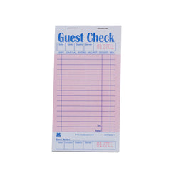 Pink Guest Check 1-Part Booked, 15 lines