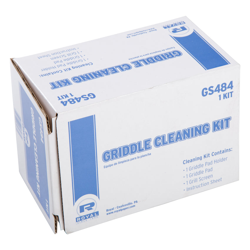 GRIDDLE CLEANING KIT ONE HOLDER, ONE PAD, ONE SCREEN, Closed Case