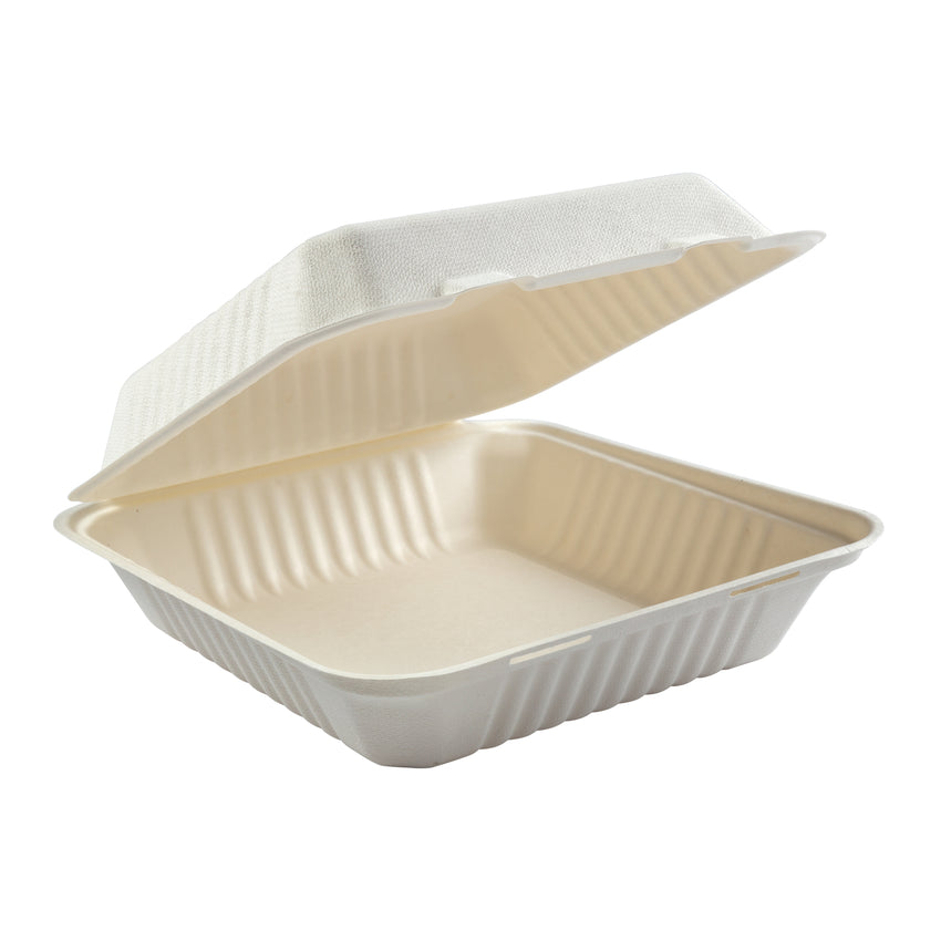 "Large Hinged Lid Containers 9"" x 9"" x 3.19"""