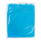POLYPROPYLENE ISOLATION GOWN BLUE, Inner Plastic Wrapped Package, Overhead View