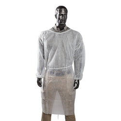 POLYPROPYLENE ISOLATION GOWN WHITE