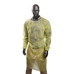 POLYPROPYLENE ISOLATION GOWN YELLOW