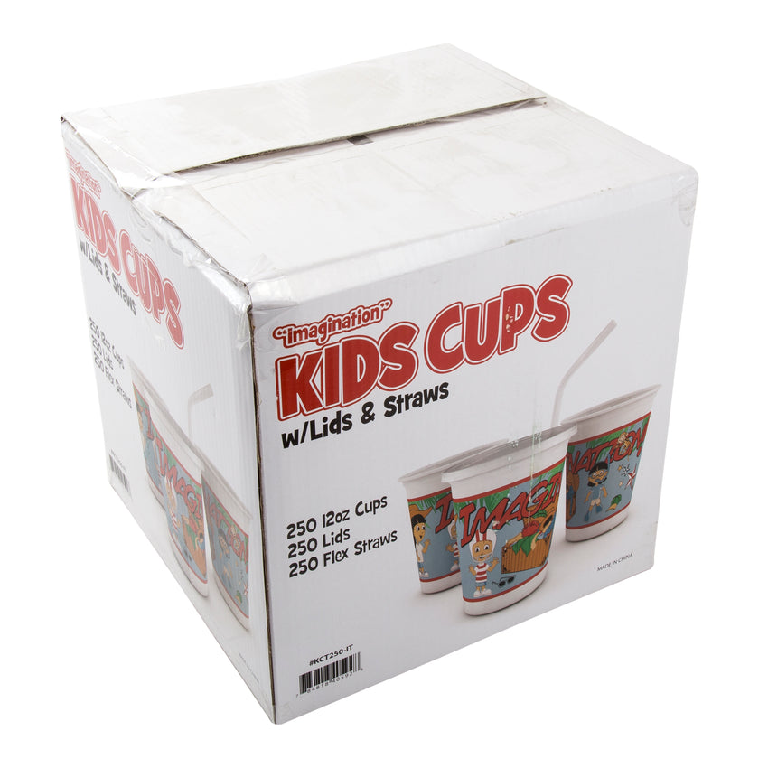 12 Oz Kids Cups, Imagination Theme, Closed Case