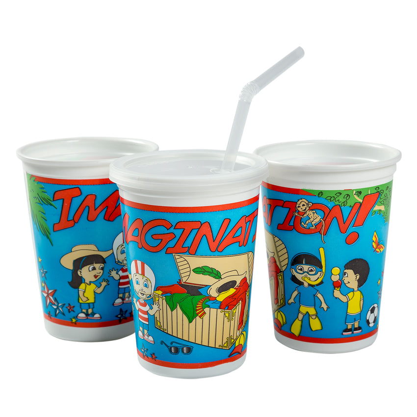 12 Oz Kids Cups, Imagination Theme, Group Image