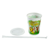 12 Oz Kids Cups, Jungle Friends Theme, Cup, Lid and Straw