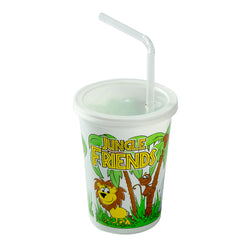 12 Oz Kids Cups, Jungle Friends Theme