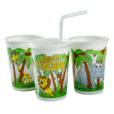 12 Oz Kids Cups, Jungle Friends Theme, Group Image